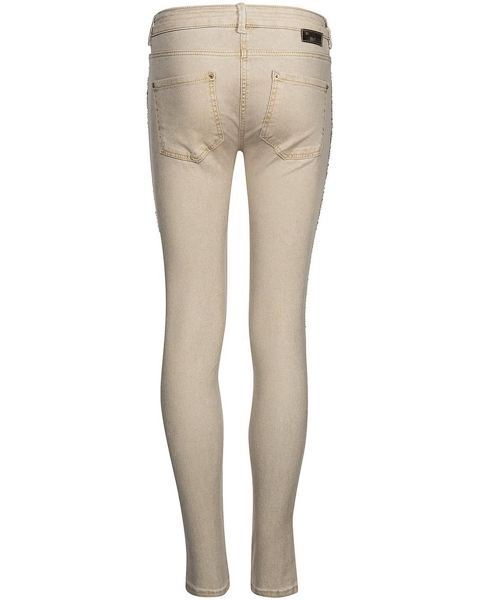 Hosen - Sand - Jeans mit Glitzerprint